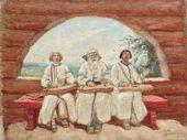 Gusli Players. 1898. Study