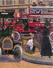 Charles GINNER. Piccadilly Circus. 1912 1912