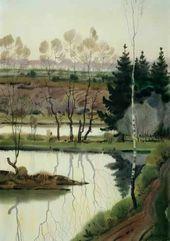 Alexei SHMARINOV. Green Evening on the River. 1975