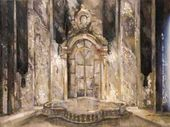 "Mikhail KURILKO-RYUMIN. Stage design sketch for the opera ""The Queen of Spades"". 1997"
