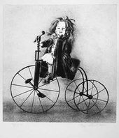 Andrei PAKHOMOV. Doll on a Bicycle. 1997