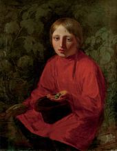 Alexei VENETSIANOV. Boy in a Red Shirt. 1845