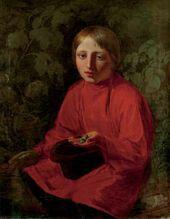 Alexei VENETSIANOV. Boy in a Red Shirt. 1845