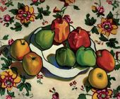 Nikolai KUZNETSOV. Pomegranates and Apples. 1916
