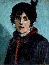 Nikolai KUZNETSOV. Portrait of the Artist's Wife. 1919
