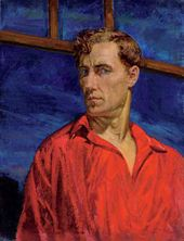 Nikolai RUSAKOV. Self-portrait in a Red Shirt. 1935