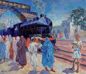 Nikolai RUSAKOV. First Train. 1924