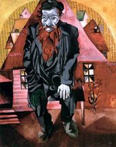 Marc CHAGALL. Jew in Red. 1915