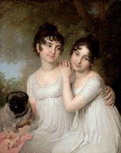Portrait of the Princesses Yekaterina Kurakina and Alexandra Kurakina. 1802