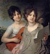 Portrait of Sisters - Princesses Anna Gagarina and Varvara Gagarina. 1802