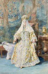 Elena SAMOKISHSUDKOVSKAYA. Portrait of the Empress Alexandra Fyodorovna. 1903
