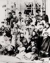 European noble families at the Coburgs' wedding, 1894