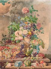 Pyotr SOKOLOV. Flowers and Fruits. 1840-е