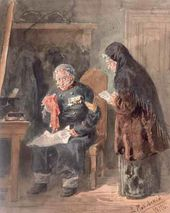 Vladimir MAKOVSKY. Waiting for Pension at a Treasurer's Office. 1879