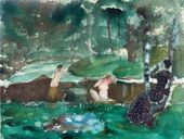Konstantin SOMOV. Bathing Women. 1904