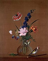 Fyodor TOLSTOY. Bunch of Flowers, a Butterfly and a Bird. 1820