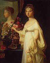 Jean Loran MONIER. Portrait of Empress Elizabeth Alexeevna. 1802