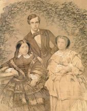 Photographer unknown. Sergei Tretyakov with his wife Elizaveta Tretyakova (born Mazurina) and her elder sister Anna Alekseeva