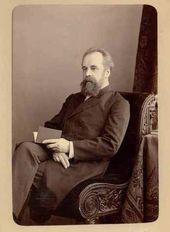 """Atelier """"Levitsky&Son"""". Sergei Tretyakov. Albumin print. 1881"""