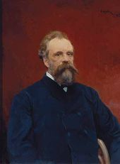Valentin SEROV. Portrait of Sergei Tretyakov. 1895
