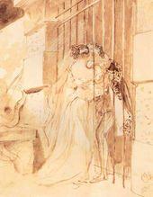 Karl BRIULLOV. Rendezvous in Prison. 1832