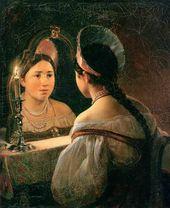 Karl BRIULLOV. Svetlana (A Russian Girl Telling Her Fortune). 1836