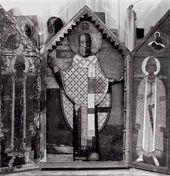 """Sculpture St. Nicholas of Zaraisk in the Icon Case. 17th century"