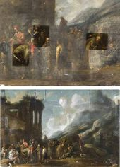 Unknown Flemish artist of the second part of the 17th century (Hamers Franciscus?). At the Ruins of the Monastery
