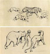 "Drawings to Rudyard Kipling's ""Maughli"". 1922–1926"