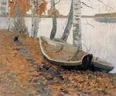 Autumn. Leaves Fell on the Boats. 1956