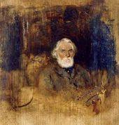 Ivan POKHITONOV. Portrait of Ivan Sergeevich Turgenev. 1882