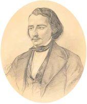 Kirill GORBUNOV. Portrait of Ivan Sergeevich Turgenev. 1846