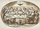 Alexei YEGOROV. Last Supper. 1820-е