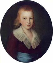 Pyotr DROZHDIN. Portrait of a Boy.. 1780-е