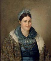 Nikolai MYLNIKOV. Portrait of Nadezhda Ivanovna Soboleva, née Kozhevnikova (c. 1799–1861). 1830s