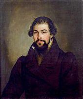 Nikolai MYLNIKOV. Portrait of Ivan Semenovich Sobolev (c. 1792–1873). 1830s