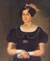 Ivan TARKHANOV. Portrait of Yevdokia Dmitrievna Surina (1808-before 1845), First Wife of Pavel Matveyevich Surin. 1829