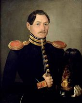 M.A. TIKHEEV. Portrait of a First Lieutenant of Naval Artillery Corps Alexander Artemievich Morozov (1827–?). 1849