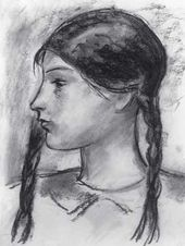 Girl with Plaits. 1928