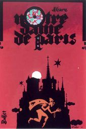 Theatre poster for the ballet Notre Dame de Paris by Maurice Jarre