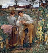 Jules BASTIEN-LEPAGE. Village Lovers. 1882