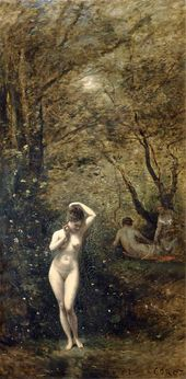Jean-Baptist-Camille COROT. Diana Bathing. 1873–1874