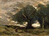 Jean-Baptist-Camille COROT. Gust of Wind