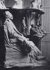 Statue of Robert de Montesquieu (1907) in Troubetzkoy's studio in Paris