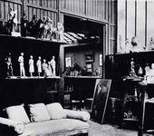 Troubetzkoy's studio in Neuilly near Paris