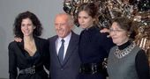 Mollie Dent-Brocklehurst, François Pinault, Daria Zhukova and Caroline Bourgeois at the pressconference of the exhibition
