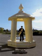 Gareth KENNEDY. Inflatable Bandstand (ten year crescendo). Documentation of performance (Carrick-On-Shannon). 2008