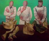 Tatyana NAZARENKO. The Butchers (left part of the diptych). 1991