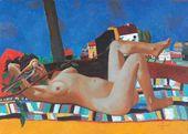 Vadim KULAKOV. A Nude with a Bird. 2009