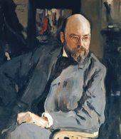Valentin SEROV. Portrait of Ilya Ostroukhov. 1902